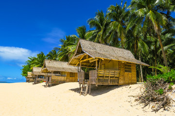 Huts on Paradise Island Beach
