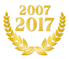 zehnjähriges Jubiläum 2007 2017