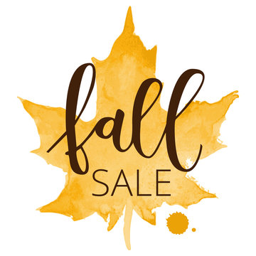 Fall sale hand written inscription