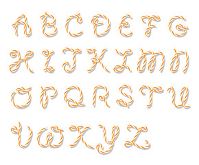 Bakers twine alphabet