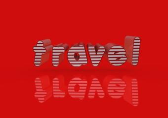 Travel, Typography, 3D