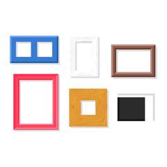 Photo frame vector set.