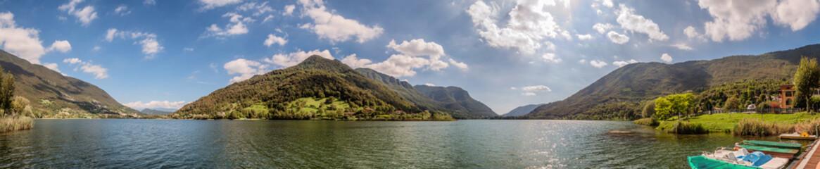 Lake Endine in northern Italy, panorama Wall mural