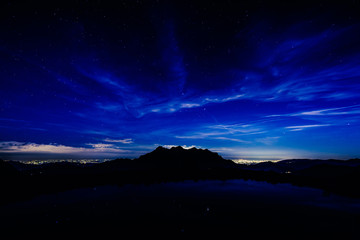 night sky in mountain