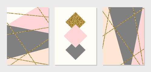 Fototapete - Abstract Design Cards Collection