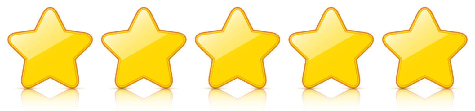 5 Star Rating - Golden Star Icons