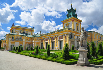 Wilanow palace in historical Warsaw Wall mural