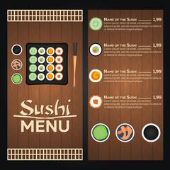 Sushi menu vector design template