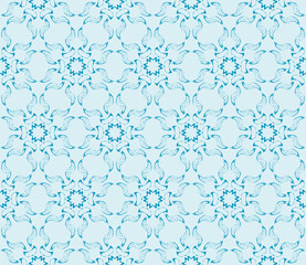 Congratulatory ornament seamless of floral pattern. Vector. blue.