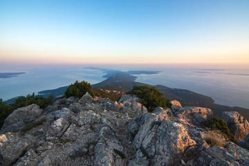 Beautiful sea view on island Mali Losinj in Croatia