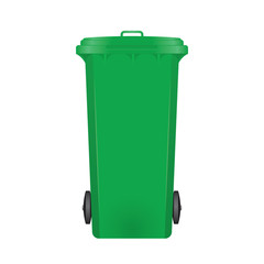 Green Modern Recycle Bin. Vector Illustration.