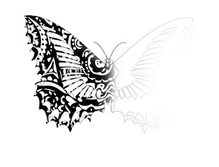 Schmetterling mit Muster