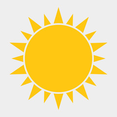 Sun Icon, Sun Icon Vector, Sun Icon design on a white background