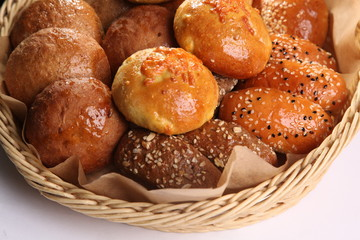 basket of different bread