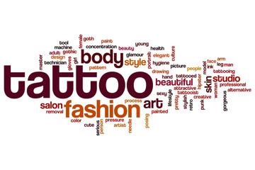 Tattoo word cloud