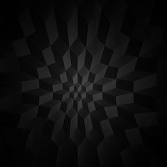 Black and white geometric background. Geometric pattern with cubes