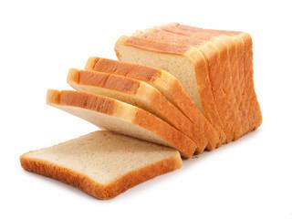 Fototapeta toast wheat bread sliced isolated on white obraz