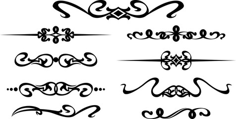 Collection of hand drawn modern frames for text decoration in vector
