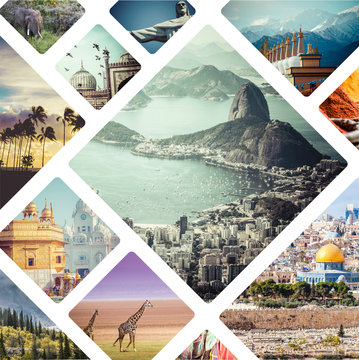 Beautiful vacation collage made from mahy photos.