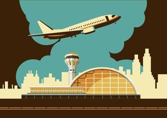 airport building vector illustration