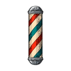 Classic barber shop Pole.