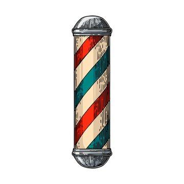 Classic barber shop Pole.