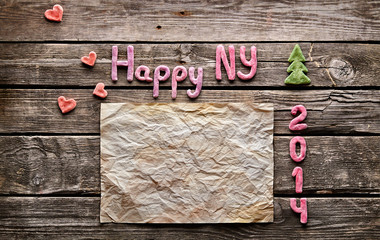 Sweet 2014 New Year holiday background