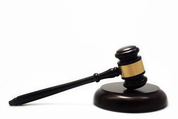 wooden hammer symbol of law