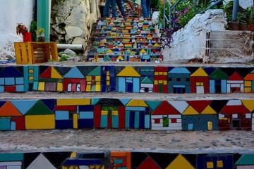 Lamas personalizadas con motivos artísticos con tu foto Street art in Loma San Jeronimo in Asuncion, Paraguay