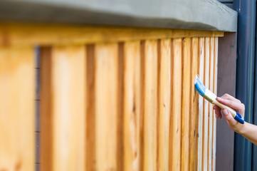 painted terrace railings