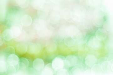 Blurred green background with bokeh lights