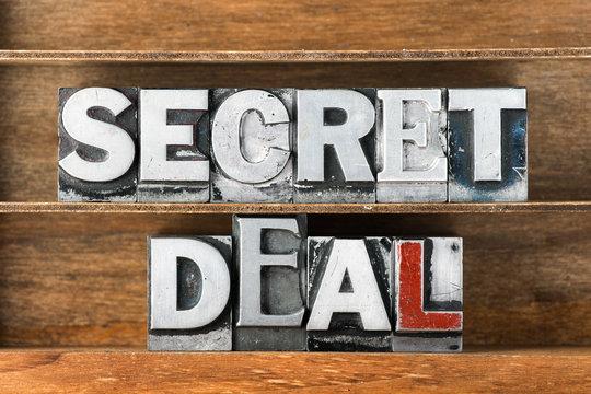 secret deal tray