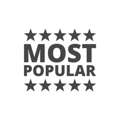 Most popular sign icon. Bestseller symbol