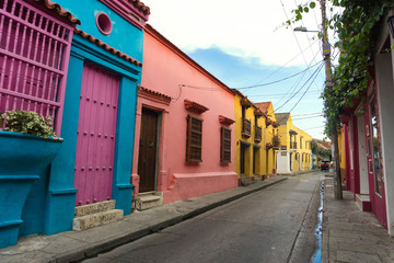 Fotomurales - Colorful Colonial Architecture