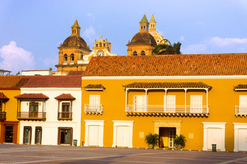Fototapete - Plaza in Cartagena, Colombia