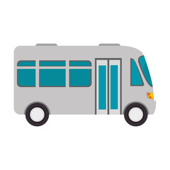 microbus transport vehicle bus van wagon vector illustration