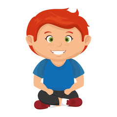 boy smiling happy child kid face cartoon vector illustration
