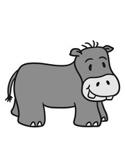 comic cartoon sweet little cute baby hippo happy child