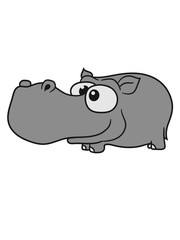 comic cartoon design sweet little cute baby hippo happy child