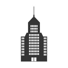 tower building  architecture real estate urban silhouette. vector illustration