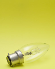 A light bulb isolated on a yellow background