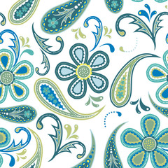 seamless background with paisley design
