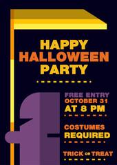 Halloween Invitation brochure, Messenger of death Theme.