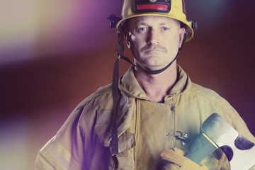 Firefighter Man with Axe