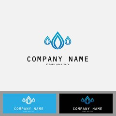 drop water shape logo