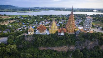 aerial view of wat thum sau temple important buddha traveling de