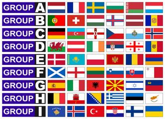 Flags of European  football group