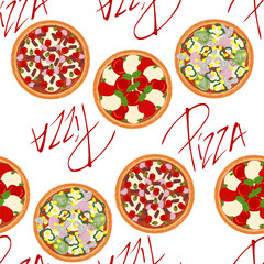 Cute seamless background pattern with 	