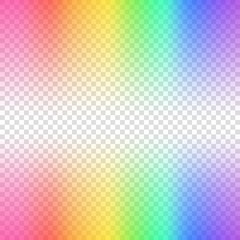 Transparent blurred background. Rainbow colored vector illustration on transparent background