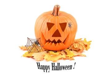 Halloween. Happy Halloween pumpkin card. Halloween pumpkin.